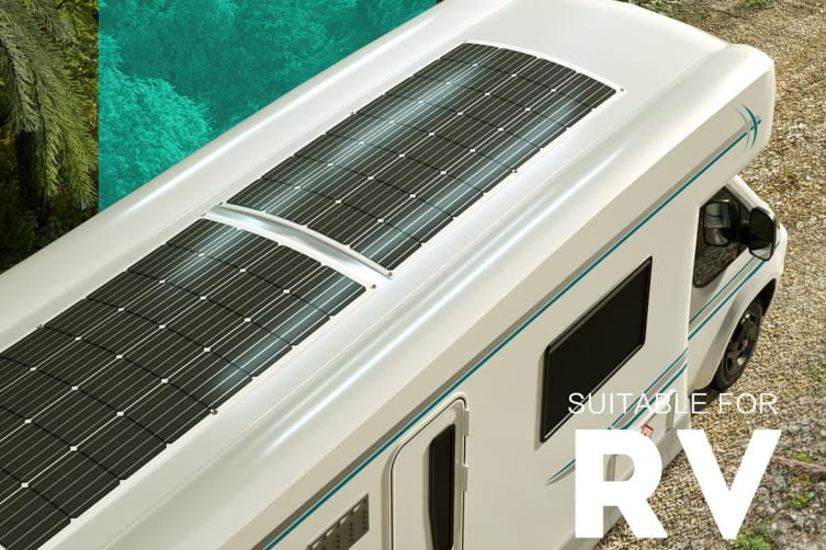 Acemor 200W Flexible Solar Panel 12V Boat Caravan Camping Power Battery Mono Charging Kit