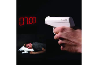 Secret Agent Vibrating Gun Projection Alarm Clock | Projects the Time!