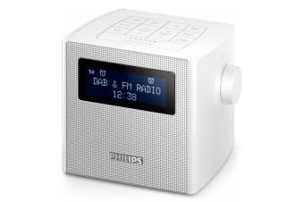 Philips AJB4300W DAB+ Digital Radio Dual Alarm Clock/FM Radio/Snooze/Buzzer