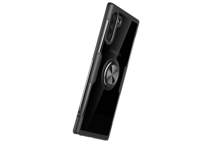 For Samsung Galaxy Note 10 Case Black Armour Ring Holder Protective Back Shell