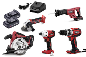 Certa PowerPlus 18V 4.0Ah 5 Piece Set (Brushless Drill & Driver)