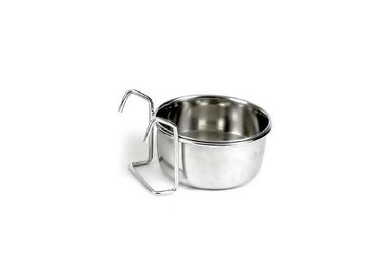 Classic Stainless Steel Hook-On Bowl (Silver) (3.5 inch diameter)