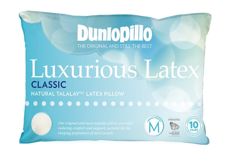 Dunlopillo Luxurious Latex Medium Profile Pillow (Classic, Medium Feel)