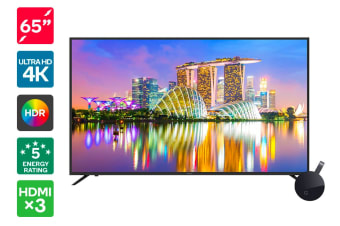 "Kogan 65"" 4K HDR LED TV (Series 8 KU8100) + Chromecast Ultra"