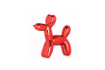 Balloon Dog Money Bank,Unique Ceramic Piggy Bank With High-Gloss Finish - Red Red
