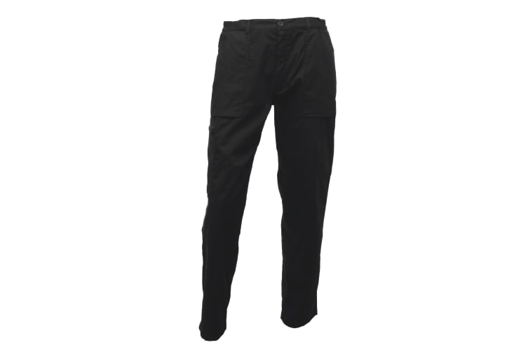 Regatta Mens New Action Trouser (Long) / Pants (Black) (40W x Long)