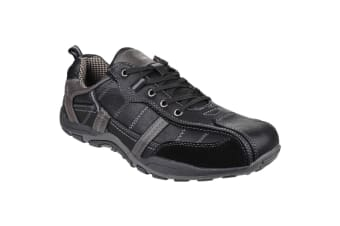Fleet & Foster Mens Portsmouth Classic Lace Up Casual Shoe (Black)