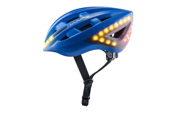 Lumos Smart Helmet with Built-In Lights and Indicators (Cobalt Blue)