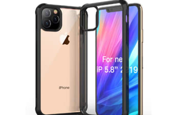 Select Mall Drop Protection Cover Acrylic Transparent Mobile Phone Case Compatible with Series IPhone 11 Case-Black Iphone11 Pro Max 6.5 inch