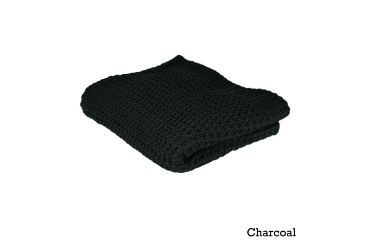 Knitted Throw Charcoal by Ardor