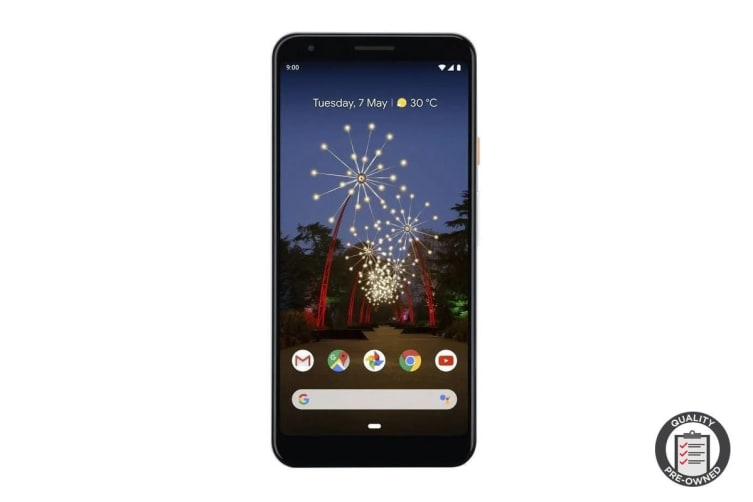 Google Pixel 3a XL (64GB, Clearly White) Preowned