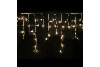 300 LED Curtain Fairy String Lights Wedding Outdoor Xmas Party Lights Warm White  -  Warm White300 LED