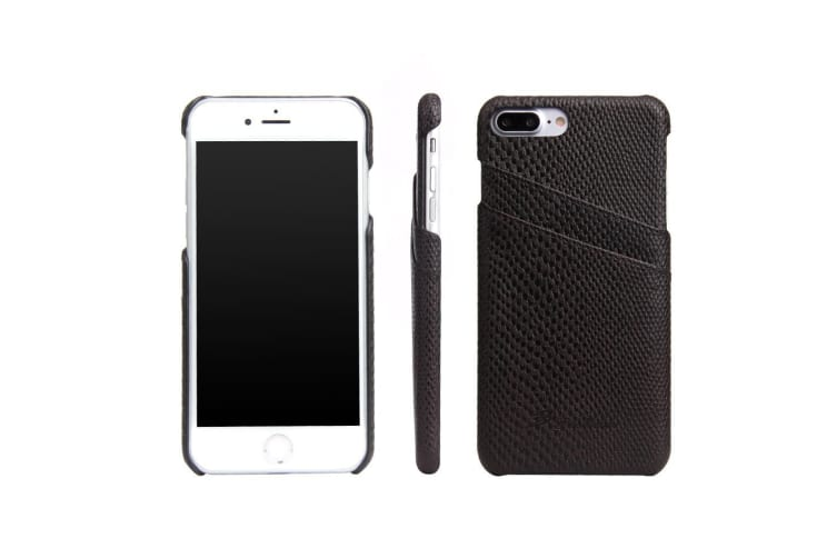 For iPhone 8 PLUS 7 PLUS Case Elegant Deluxe Snake Pattern Leather Cover Black