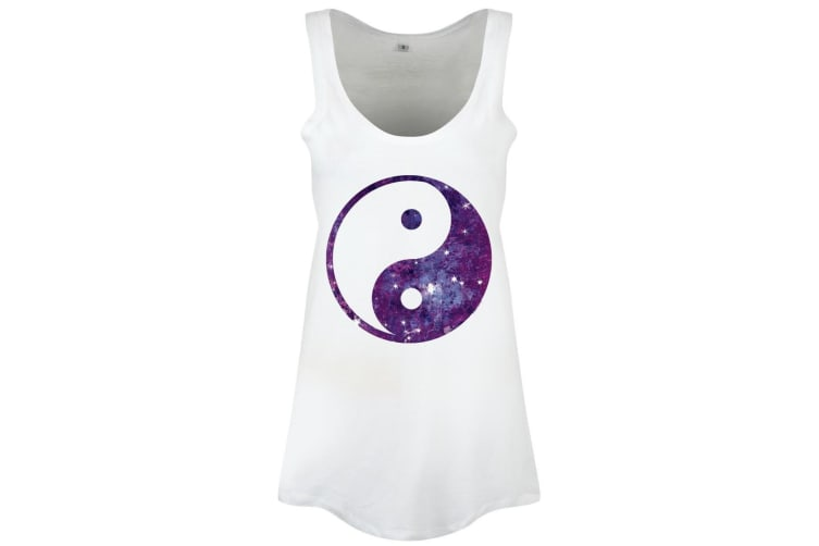 Grindstore Yin Yang Galaxy Ladies Floaty Vest (White) (Small)