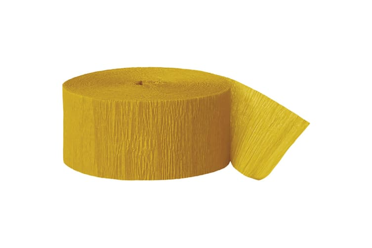Unique Party Crepe Streamer Roll (81ft) (Goldenrod) (One Size)