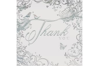 Simon Elvin Thank You Wedding Gift Display Pack (Pack Of 6) (Silver Swirls) (Pack Of 6)
