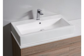 White High Gloss Ceramic Bathroom Sink Basin Above Counter Top Wall Hung (CBS009)