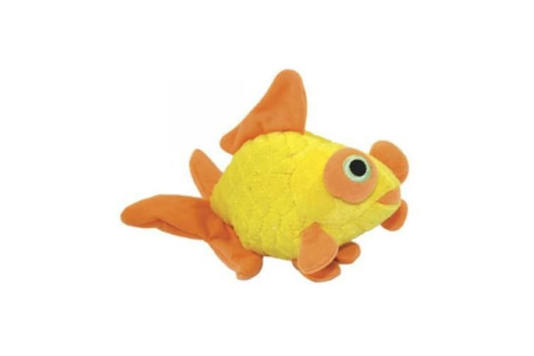 VIP Tuffy Mighty Jr Ocean Goldfish Dog Toy (Yellow) (One Size)