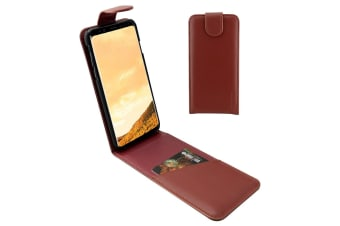 For Samsung Galaxy S8 PLUS Case iCoverLover Flip Genuine Leather Cover Russet