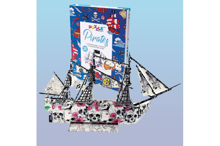Pirate Ship 3D Puzzle Book With Colouring In