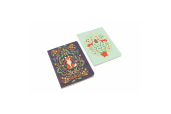 Seasons Greetings Fox Notebooks (Pack Of 2) (Multicoloured) (One Size)