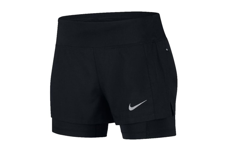 Nike Eclipse 2-in-1 Women's Running Shorts (Black, Size M)