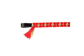 ShowQuest York Brow Band (Red/Red/Gold)