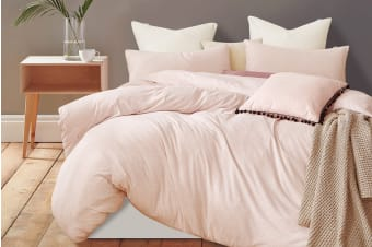 Gioia Casa Jersey Cotton Quilt Cover (Single/Pink Marble)