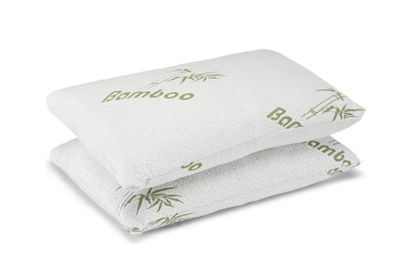 Ovela Set of 2 Bamboo Luxury Memory Foam Pillows (Standard)