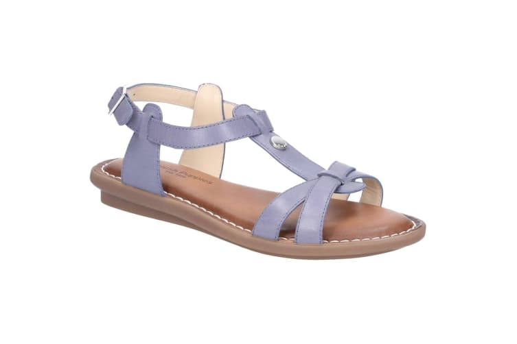 Hush Puppies Womens/Ladies T-strap Leather Buckle Sandal (Blue) (7 UK)