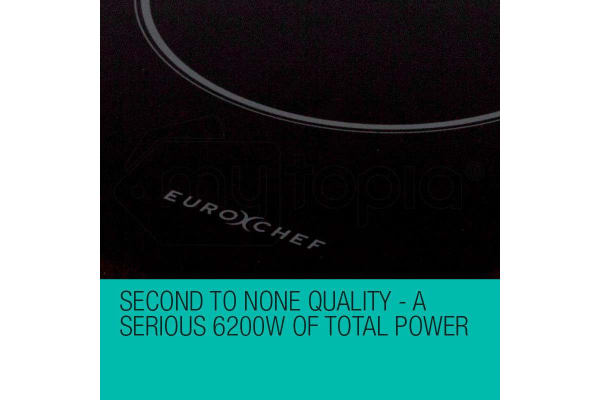 EuroChef 60cm Ceramic Glass 4 Zone Touch Control Kitchen Electric Cooktop