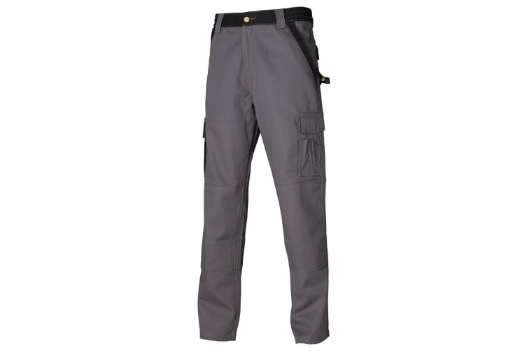Dickies Mens Industry 300 Two-Tone Work Trousers (Regular And Tall) / Workwear (Grey / Black) (36T)