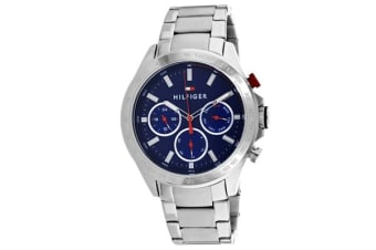 Tommy Hilfiger Men's Hudson Watch (Blue Dial, Stainless Steel Bracelet)