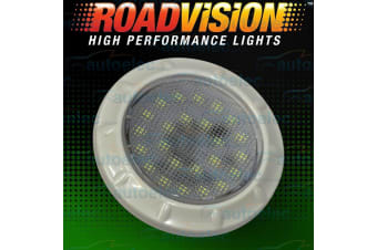 ROADVISION LED RECESSED INTERIOR DOME LIGHT LAMP ROOF CABIN CARAVAN WHITE IL70
