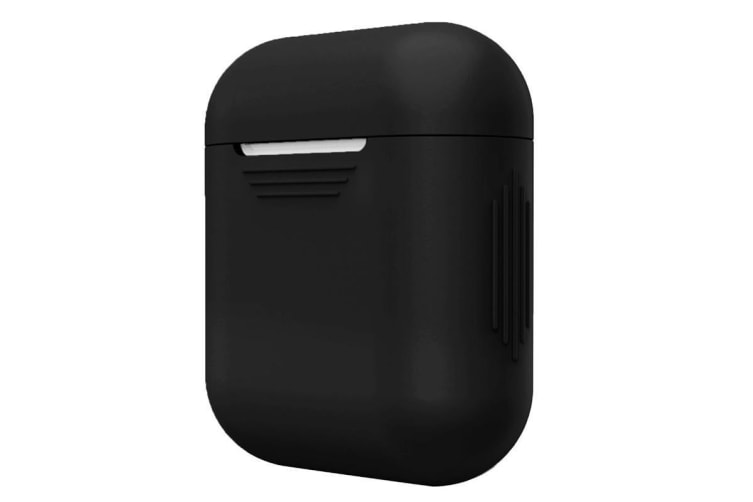For Apple Airpods Storage Bag Black Silicone Protective Box