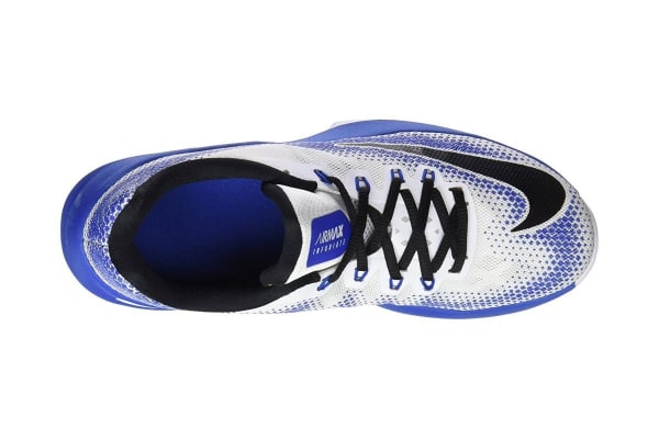 Nike Men's Air Max Infuriate Low Basketball Shoe (Blue/White, Size 9.5)