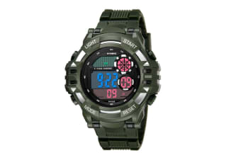 Men'S Watch Fashion Waterproof Multifunctional Student Electronic Watch Green