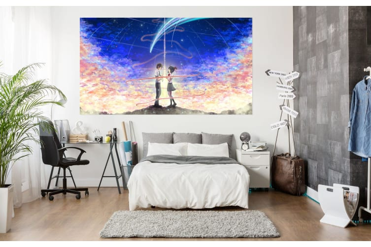 3D Your Name 746 Anime Wall Stickers Self-adhesive Vinyl, 260cm x 150cm(102.3'' x 59'') (WxH)