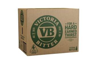 Victoria Bitter Beer 12 x 750mL Bottles