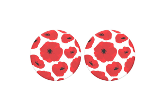 2x PopSockets Scandi Poppies Swappable Top f/ Pop Socket Base Grip/Stand PopGrip