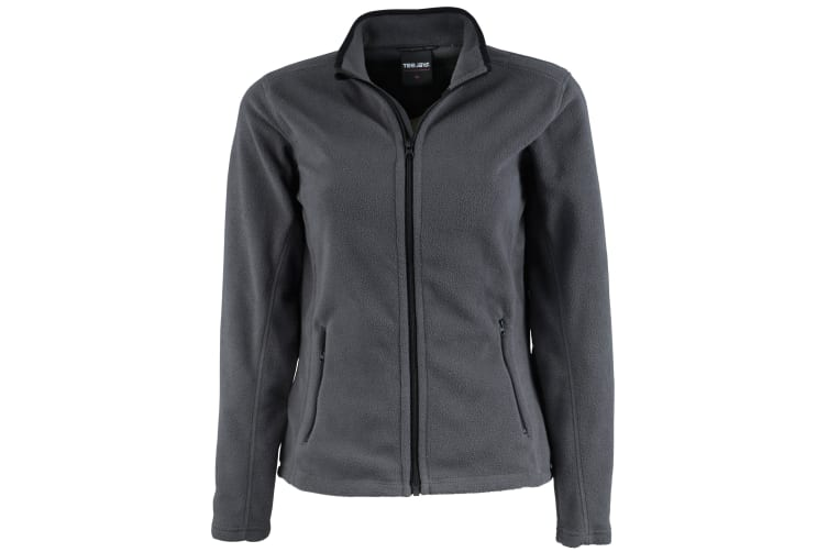 Tee Jays Womens/Ladies Full Zip Active Lightweight Fleece Jacket (Dark Grey) (M)