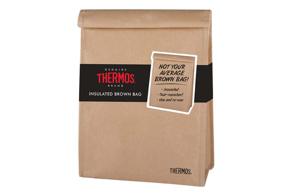 Thermos Insulated Brown Bag Lunch Bag
