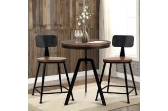 Artiss Vintage Bar Stools Table Chairs Set Retro Industrial Bar stool Kitchen