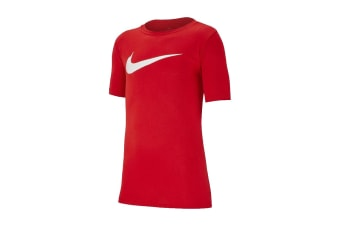 Nike Dri-FIT Swoosh Boy's Training T-Shirt (University Red/White)