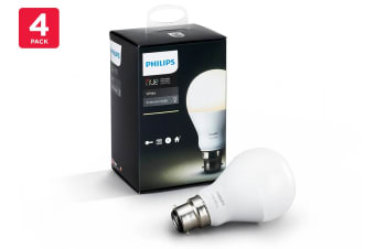 Philips Hue White Light Bulb 9.5W A60 B22 (4 Pack)