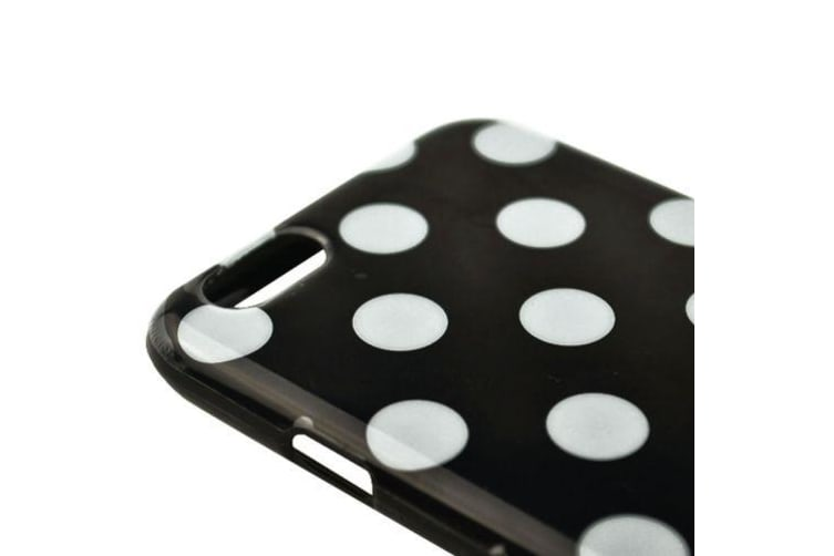 For iPhone 6S PLUS 6 PLUS Case  Polka Dot Shielding Cover Black  White