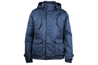 CAT Lifestyle Mens Utica Removable Hood Windproof Jacket (Blue)