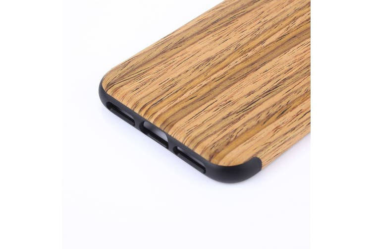 For Iphone Xs X Back Case Modern Teak Wood Texture High Quality Shielding Cover