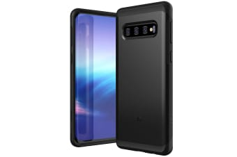 ZUSLAB Galaxy S10 Hybrid Shield Case Shockproof with Built in Soft TPU Rubber Cover for Samsung - Black