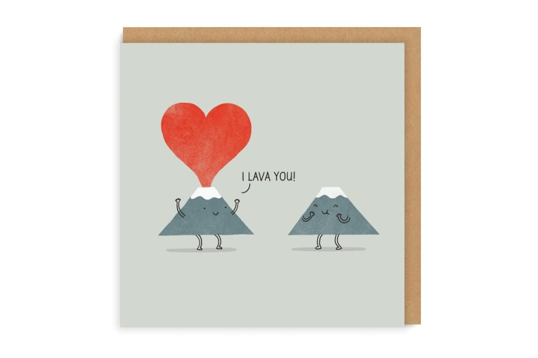 Ohh Deer I Lava You Square Square Greeting Card (Multicoloured) (One Size)